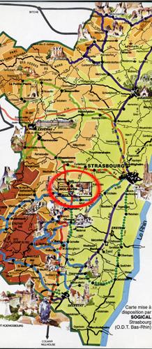Situation de Molsheim en Alsace